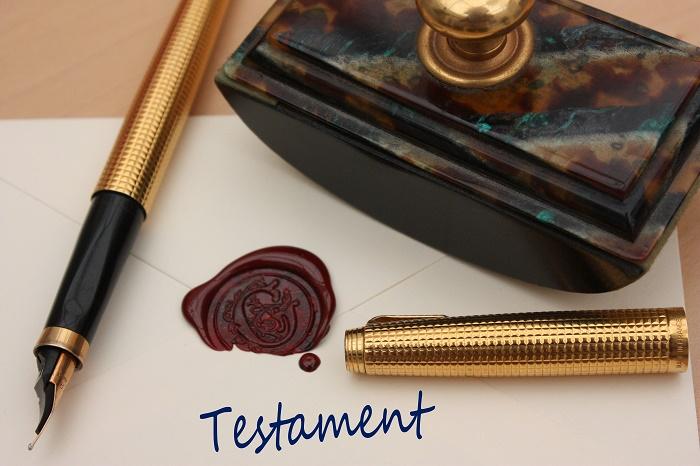 Rédaction de testament par notaire